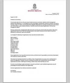 Acceptance Letter To Columbia Of South Carolina Suspends 13 Fraternities From Recruitment News For College