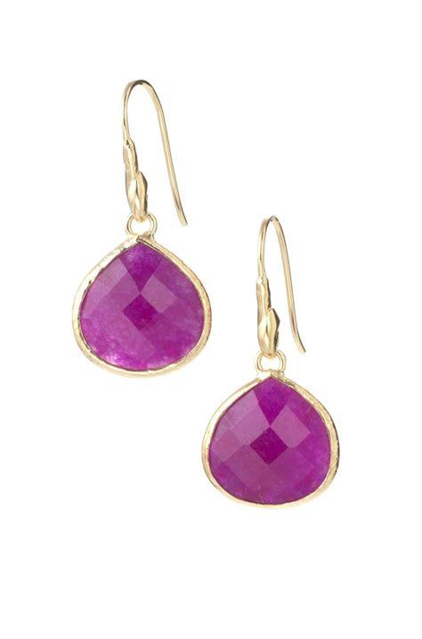 stella dot serenity drop earrings in raspberry my