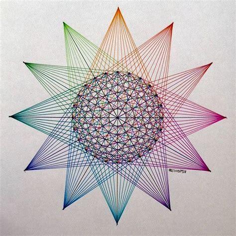 pattern made up of lines or bands geometry symmetry handmade string art artorart