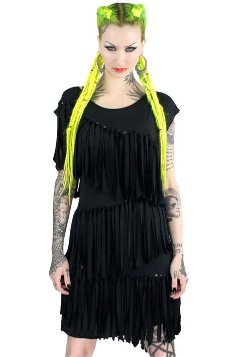 Mona Tunic by Mona Fringe Tunic Dress B Killstar