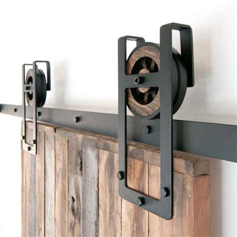 Rustic Industrial European Square Horseshoe By Industrial Closet Doors