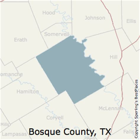 bosque county texas map best places to live in bosque county texas