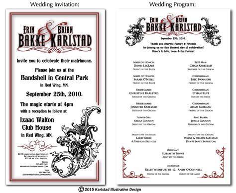 wedding invitations program design wedding invitation design program images invitation sle and invitation design