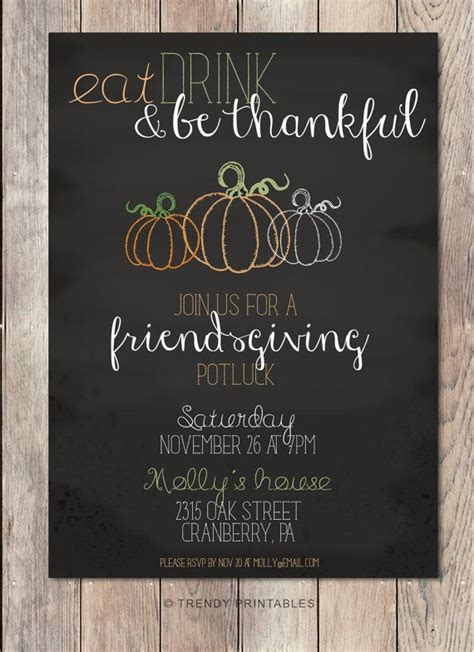 Friendsgiving Friendsgiving Invitations Friendsgiving Potluck Potluck Invitation Fall Friendsgiving Invitation Free Template