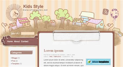 templates blogger kid art blogger template free download art blogger template