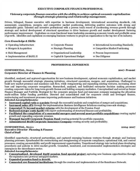 Finance Executive Sle Resume by 40 Basic Finance Resume Templates Pdf Doc Free Premium Templates