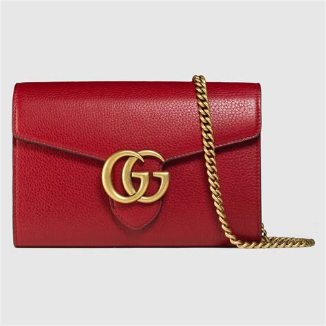 Gucci Marmont Wallet On Chain gg marmont leather mini chain bag gucci s handbags