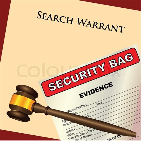 Warrant Search Delaware Search Warrant Und Nachweise Vektorgrafik Colourbox
