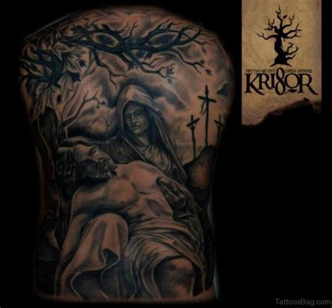 great grey pictures tattoos photos 70 fabulous religious tattoos for back