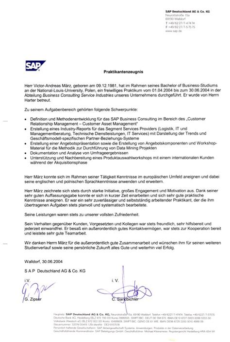 Recommendation Letter Germany Document Archive