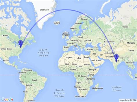 flight route map from india to usa random distance on quot the distance between nagpur
