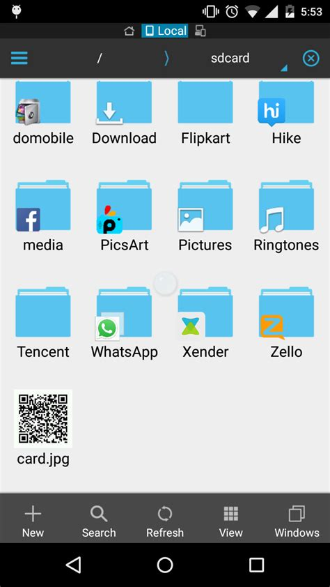 android create folder android how to create folder on sdcard with app icon with left corner stack overflow
