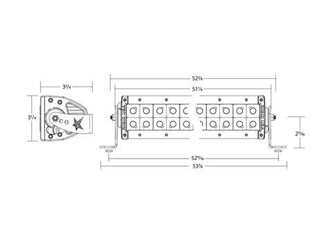 rigid industries 50 e series led light bar rigid industries 50 quot e series pro led light bar white spot