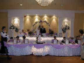 Wedding Head Table Beautiful Arrangements Of Wedding Head Table With Flowers
