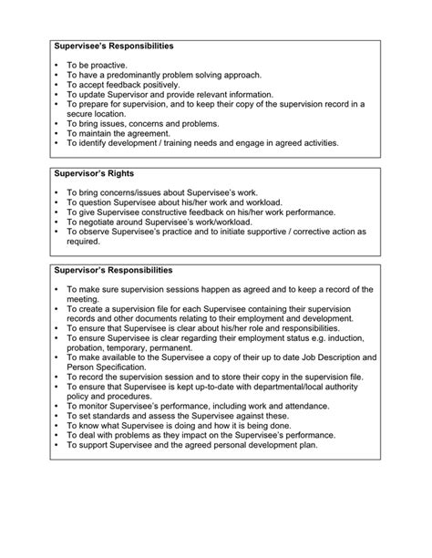 supervision agreement template supervision contract template in word and pdf formats