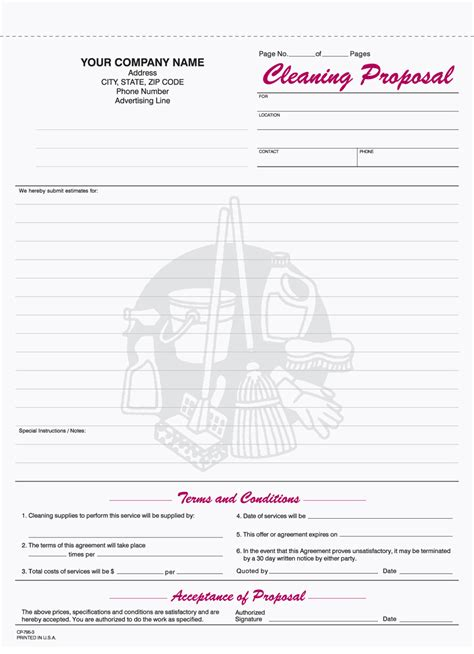free business forms templates bid 9 best images of free printable cleaning business forms