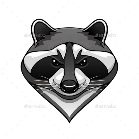 cartoon raccoon tattoo cartoon wild raccoon animal mascot by seamartini