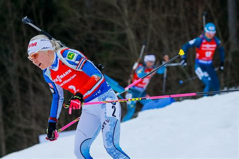 Kaisa Gamis m 228 k 228 r 228 inen goes top with mass start victory at ibu world cup