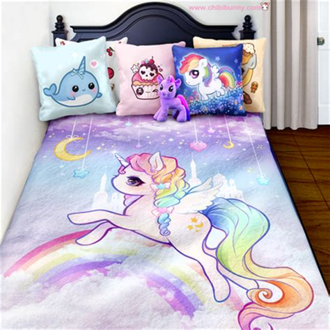kawaii bed kawaii sheep and cute donut fleece blanket fb8 183 chibi