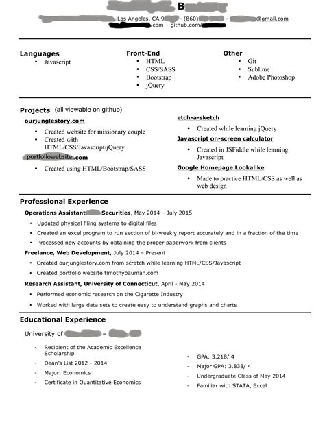 sle web developer resume 28 images front end developer