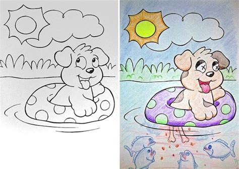 totally non crappy coloring book illustrated with crappy pictures books coloring book pages transformed into and twisted