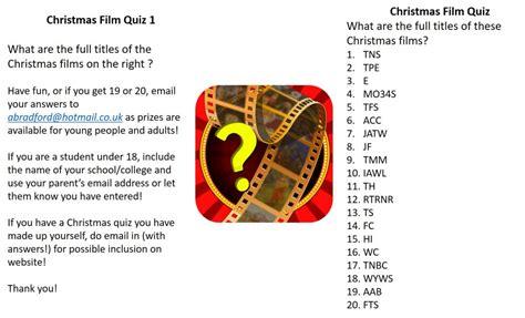 christmas film quiz uk st johns hillingdon christmas film quiz