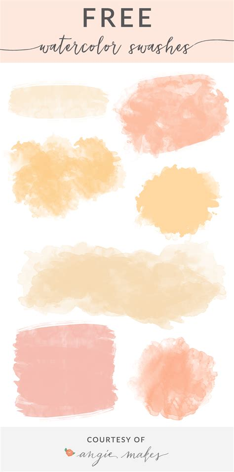 Or For Free Free Watercolor Swashes Backgrounds Angie Makes