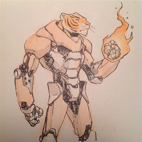 nuthin but mech fire tiger robot