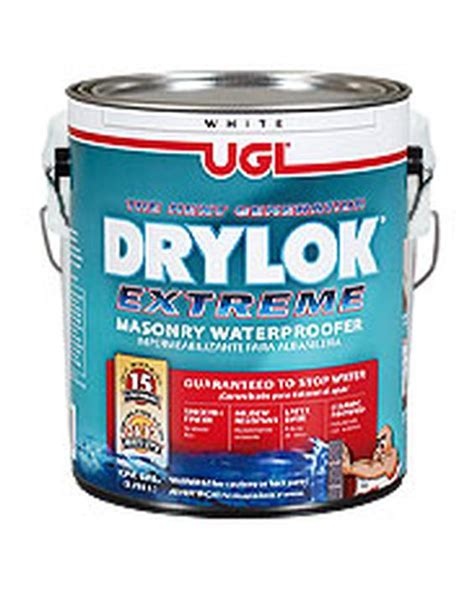 Is Exterior Paint Waterproof - drylok extreme 1 gal white