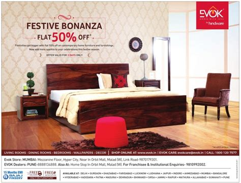 evok furniture knock out sale mumbai new delhi