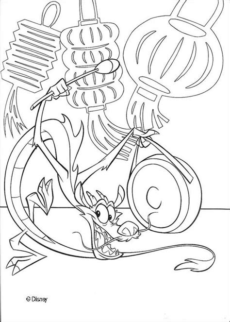 The incense burner mushu coloring pages   Hellokids.com