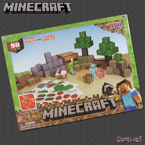 Minecraft Papercraft Overworld Deluxe Set - minecraft paper craft 90 overworld deluxe pack