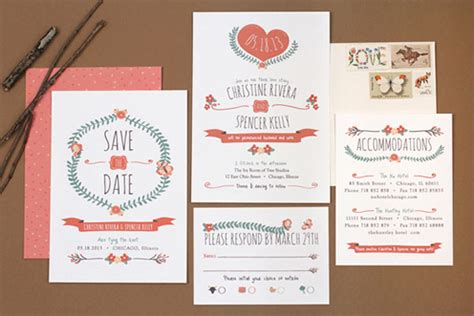 typography wedding invitation mid century style wedding invitations by vs design