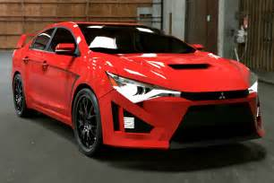 Five Mitsubishi New Render Pics Of Mitshubishi Lancer Xi 2015 And Evo 11