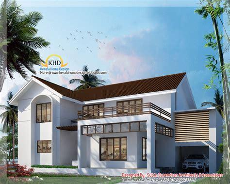unique 2220 sq feet villa elevation kerala home design 5 bedroom homes 3000 sq ft 5 bedroom villa elevation
