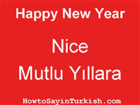 how do you say happy new year in turkish how to say in