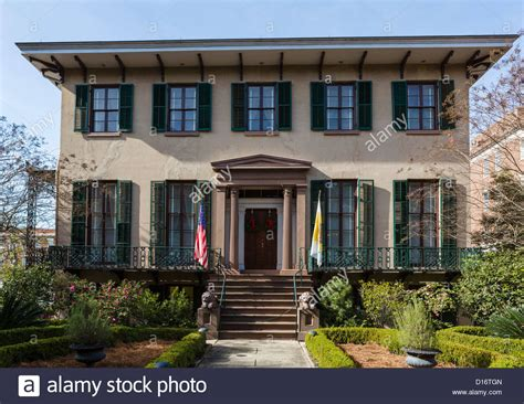 buy house savannah ga the historic andrew low house on abercorn street savannah georgia stock photo