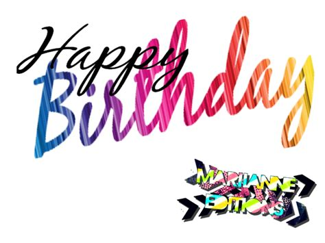 happy birthday logo design png happy birthday text by mariianneeditions on deviantart