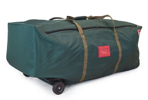 easy carry rolling christmas tree duffel bag in christmas