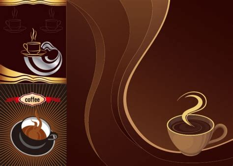 coffee cafe wallpaper vector cafe theme vector material my free photoshop world