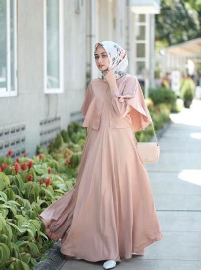 Longdress Biru Cc 7 inspirasi gaun muslim untuk kondangan yang simpel dan