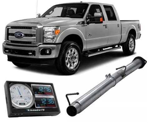 ford powerstroke dpf delete kit includes sct  wire ts  mbrp exhaust mid pipe