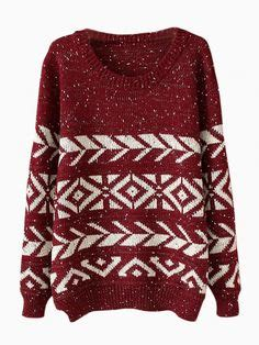 Twist Tribal Sweater aztec tribal print sweaters aztec print sweater for