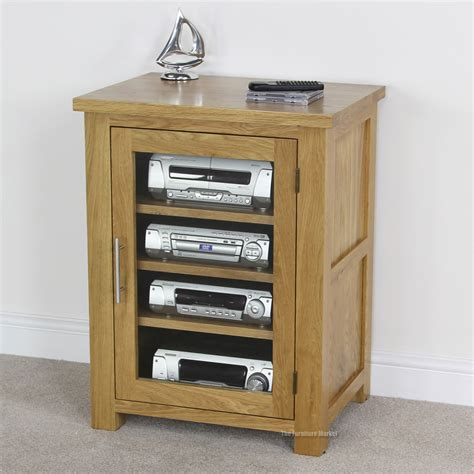 Wooden Hifi Cabinet by Solid Oak Hi Fi Cabinet