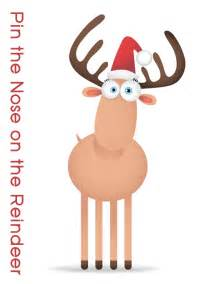 pin the nose on rudolph template the adventures of roo and lu cheap reindeer