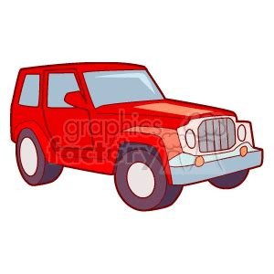 christmas jeep clip art royalty free red jeep 172599 vector clip art image eps
