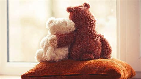 wallpaper of couple teddy bear cute teddy bear couple love wallpapers 2560x1440 817295