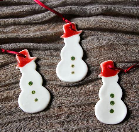 Handmade Snowman - personalised handmade porcelain snowman by artisan