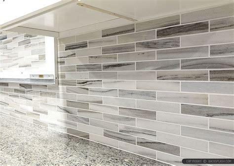 gray glass subway tile backsplash kitchens pinterest gray white some brown tones modern subway kitchen
