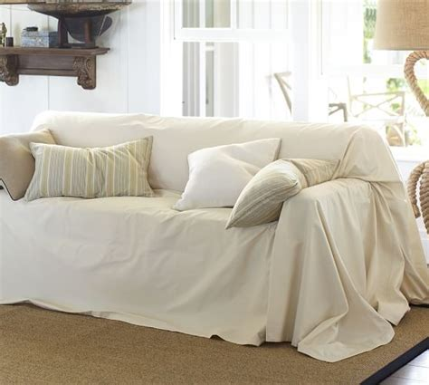 where can i get couch covers dropcloth loose fit slipcover twill pottery barn
